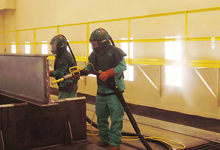 cleaning and prep work for metal coatings