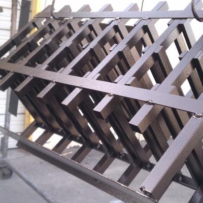 coating of powder on metal