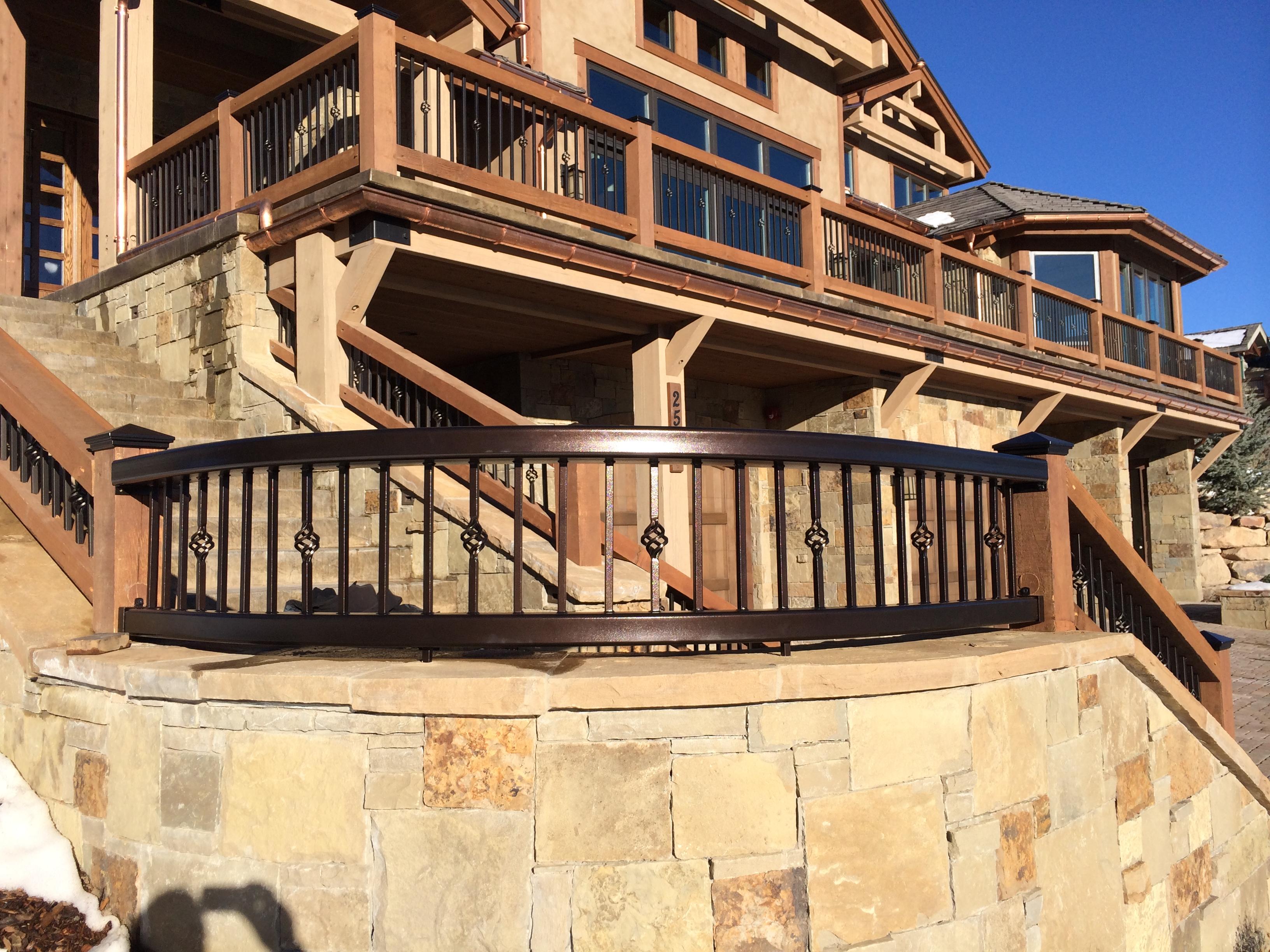 railing powder coating