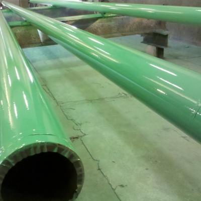 liquid coatings on pipe