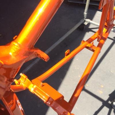 bicycle orange powder coat