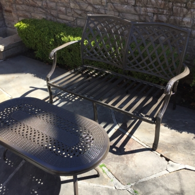 coating on outdoor furniture